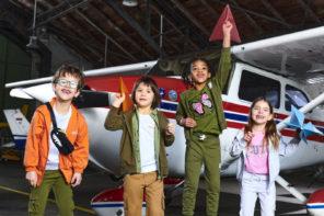Detská jarná móda v military trende